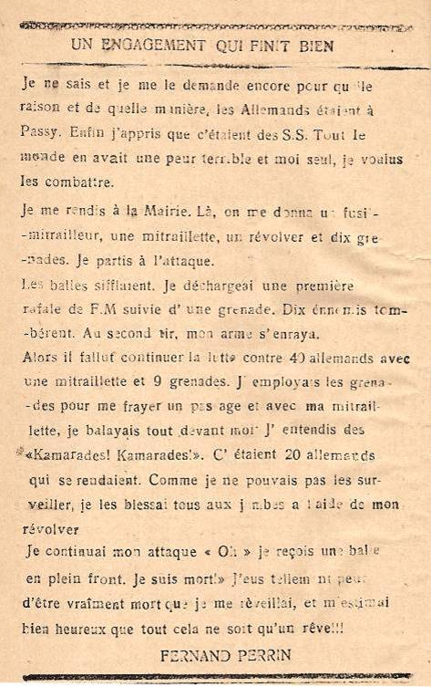 Journal scolaire de Passy « Face au Mont-Blanc », octobre 1945, p.4