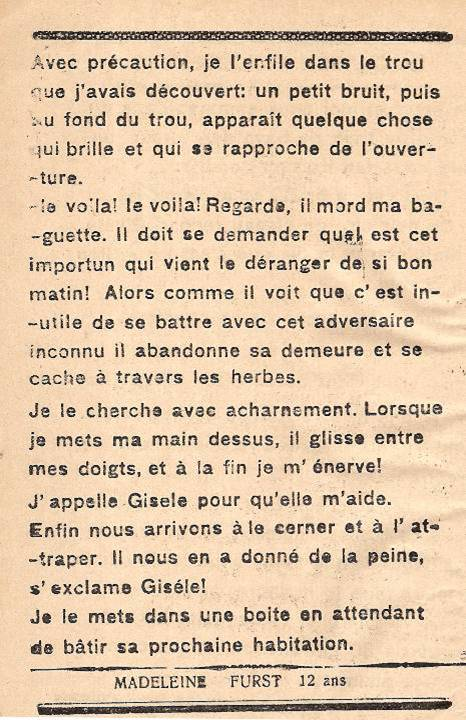 Journal scolaire de Passy « Face au Mont-Blanc », octobre 1945, p.6