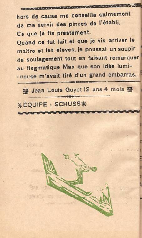 Journal scolaire de Passy « Face au Mont-Blanc », octobre 1945, p.8