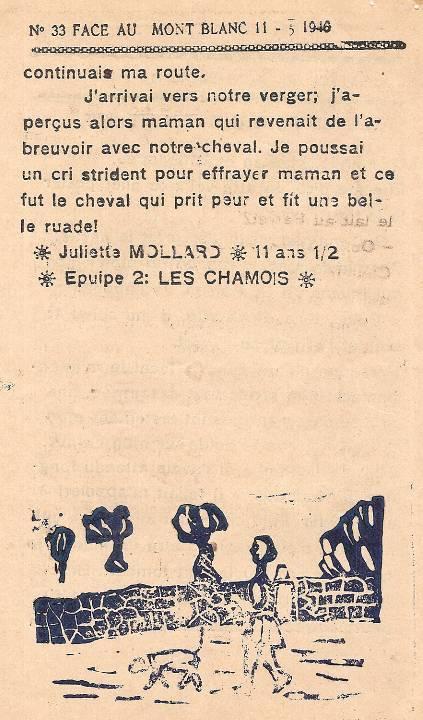 Journal scolaire de Passy « Face au Mont-Blanc », mai-juin 1946, p. 2