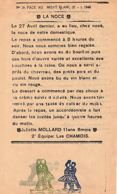 Journal scolaire de Passy « Face au Mont-Blanc », mai-juin 1946, p. 7