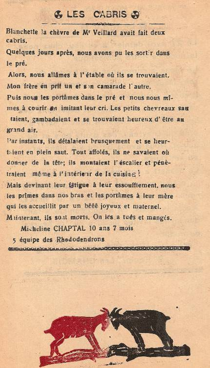 Journal scolaire de Passy « Face au Mont-Blanc », mai-juin 1946, p. 8