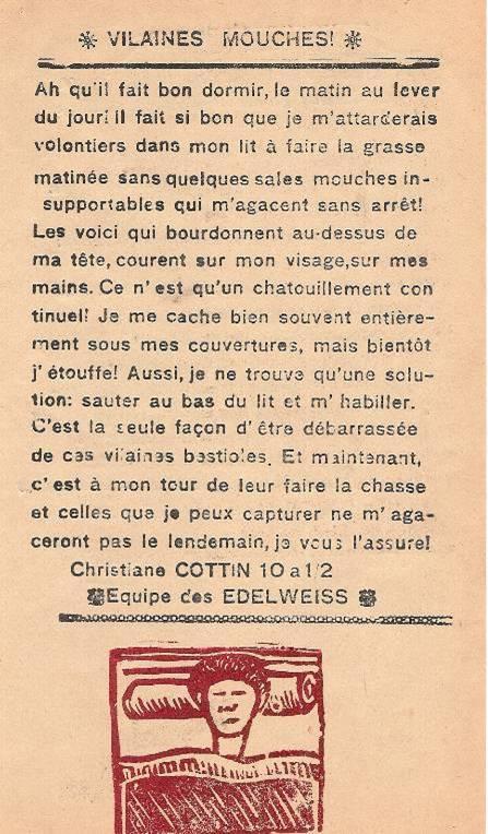 Journal scolaire de Passy « Face au Mont-Blanc », mai-juin 1946, p. 9