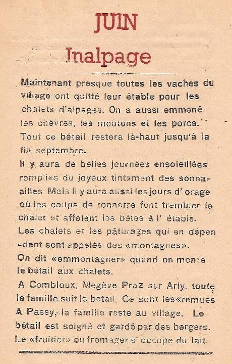 Journal scolaire de Passy, « Face au Mont-Blanc », juin 1947, p. 6, Inalpage