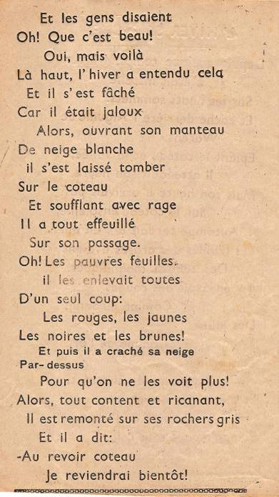 """Journal scolaire de Passy """"Face au mont-Blanc"""", nov.-déc. 1947,"""