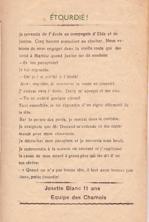 """Journal scolaire de Passy """"Face au mont-Blanc"""", nov.-déc. 1947, p. 3"""