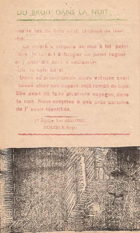 """Journal scolaire de Passy """"Face au mont-Blanc"""", nov.-déc. 1947, p. 6"""