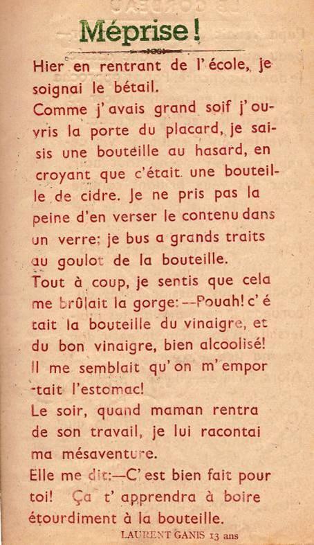 """Journal scolaire de Passy """"Face au mont-Blanc"""", nov.-déc. 1947, p. 7"""