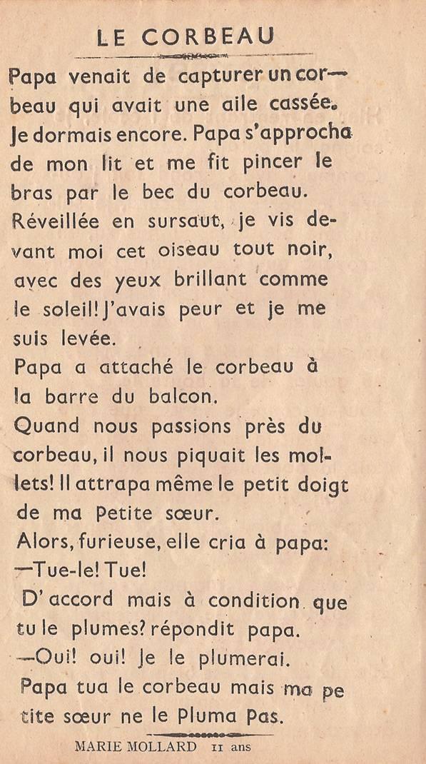"""Journal scolaire de Passy """"Face au mont-Blanc"""", nov.-déc. 1947, p. 8"""