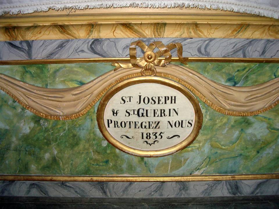 Retable de la chapelle de Maffrey, l'autel, 1835 (cliché Bernard Théry, 2013)
