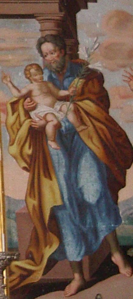 Retable de la chapelle de Maffrey, saint Joseph et l'Enfant Jésus (cliché Bernard Théry, 2013)