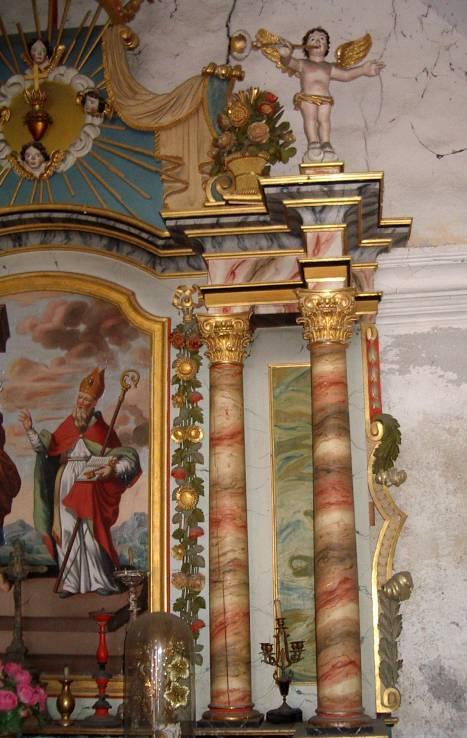 Retable de la chapelle de Maffrey, partie droite (cliché Bernard Théry, 2013)