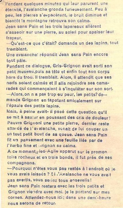 Conte « Trois petits lapins recherchent leur frère », école de Passy, 1939-42, p. 20 le Pic (suite)