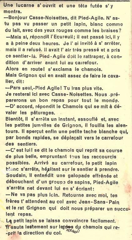 Conte « Trois petits lapins recherchent leur frère », école de Passy, 1939-42, p. 24, les retrouvailles (suite)