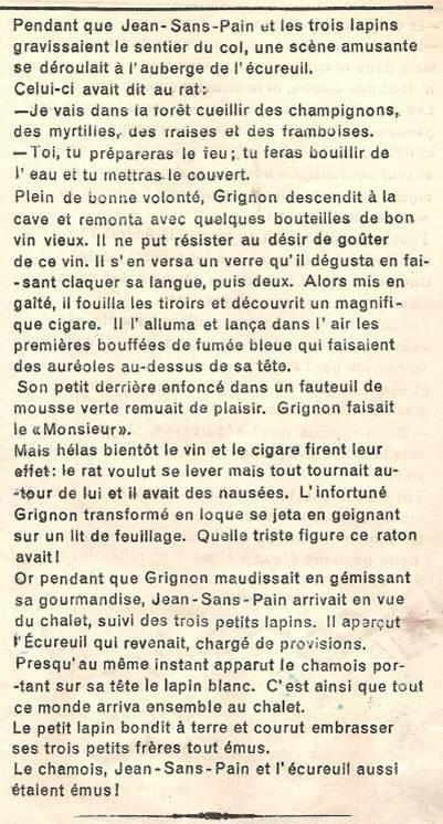 Conte « Trois petits lapins recherchent leur frère », école de Passy, 1939-42, p. 27, les retrouvailles (suite 2)