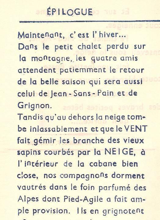 Conte « Trois petits lapins recherchent leur frère », école de Passy, 1939-42, p. 30, épilogue