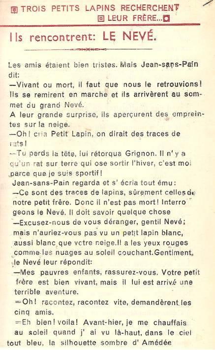 Conte « Trois petits lapins recherchent leur frère », école de Passy, 1940-42, p. 6
