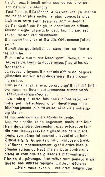 Conte « Trois petits lapins recherchent leur frère », école de Passy, 1940-42, p. 7