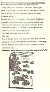 Journal scolaire de Combloux, 1932, texte de l'instituteur M. Fernand Dunand, « Le grand glacier », p. 2