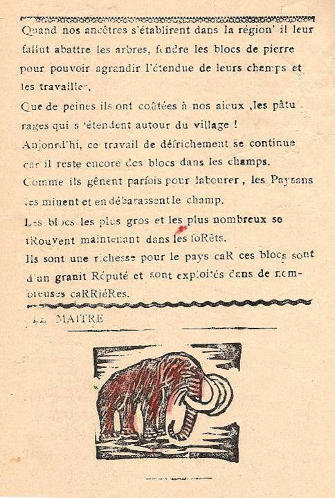 Journal scolaire de Combloux, 1932, texte de l'instituteur M. Fernand Dunand, « Le grand glacier », p. 4