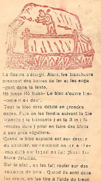 M. Fernand Dunand, Journal scolaire de Combloux, 1932, « Visite aux carrières », p. 10