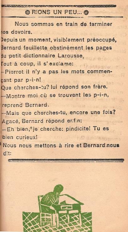 Journal scolaire de Passy « Face au Mont-Blanc », décembre 1946, p. 3 « Rions un peu… »