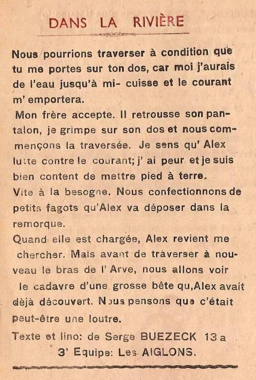 Journal scolaire de Passy « Face au Mont-Blanc », octobre 1947, p. 14 « Dans la rivière » (fin)
