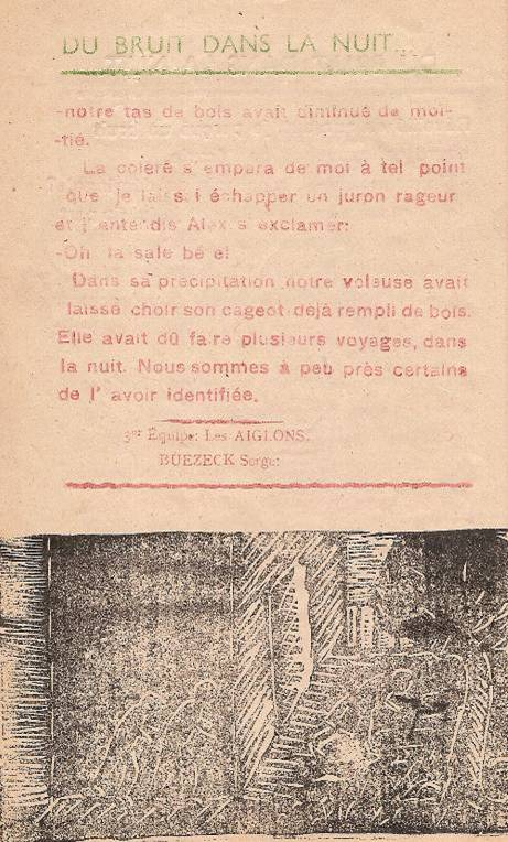 Journal scolaire de Passy « Face au Mont-Blanc », novembre 1947, p. 6 « Du bruit dans la nuit » (fin)