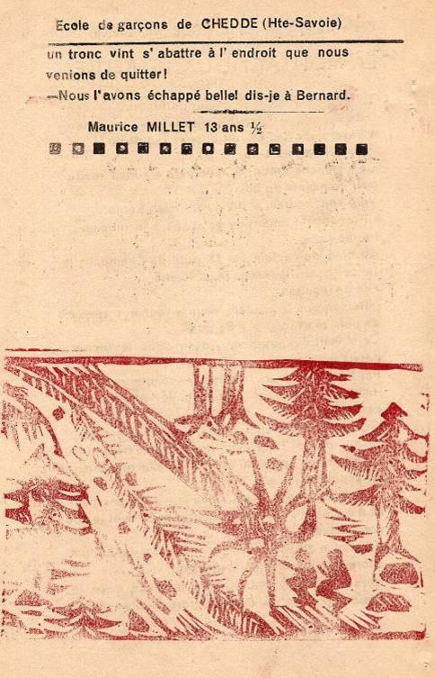 Journal scolaire de Passy « Face au Mont-Blanc », octobre 1951, p. 14 « La montagne dangereuse »