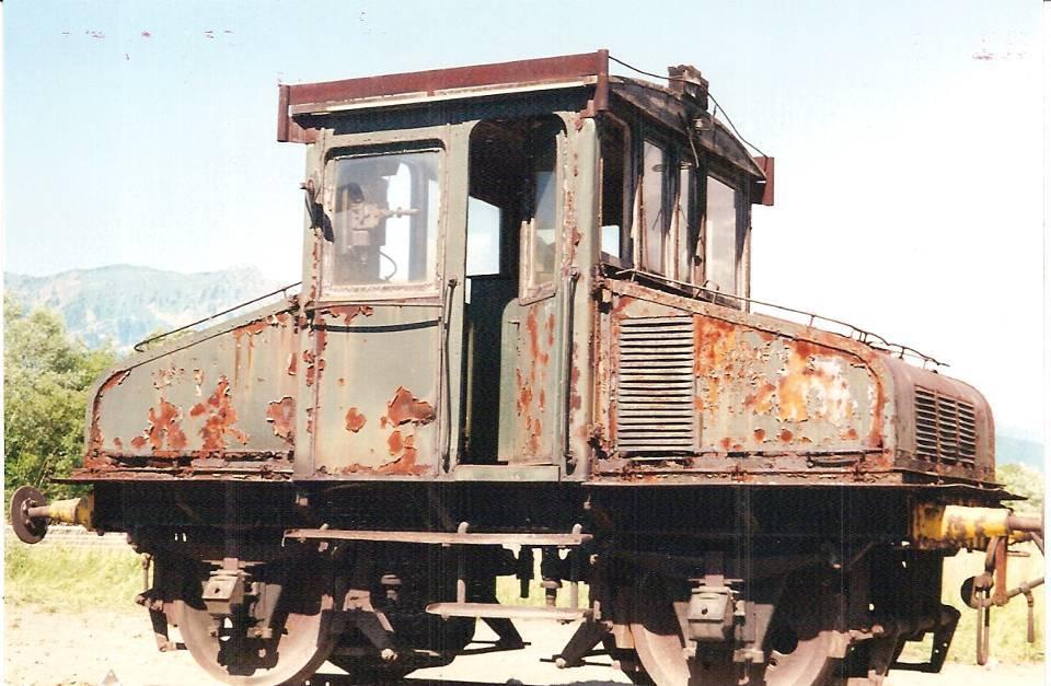 Le 2e locotracteur avant son retour espéré à Chedde et sa restauration (cliché Michel Sirop).