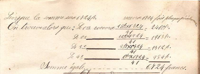 Cahier d'Eugène Delale, 3 mars 1882, p. 11, problème V, fin (Coll. Jean Perroud)