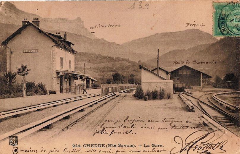 La gare de Chedde au début du XXe siècle