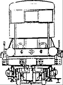 Tracteur à voie métrique PLM ; noter le double tamponnement (coll. Michel Sirop, CDR 129)