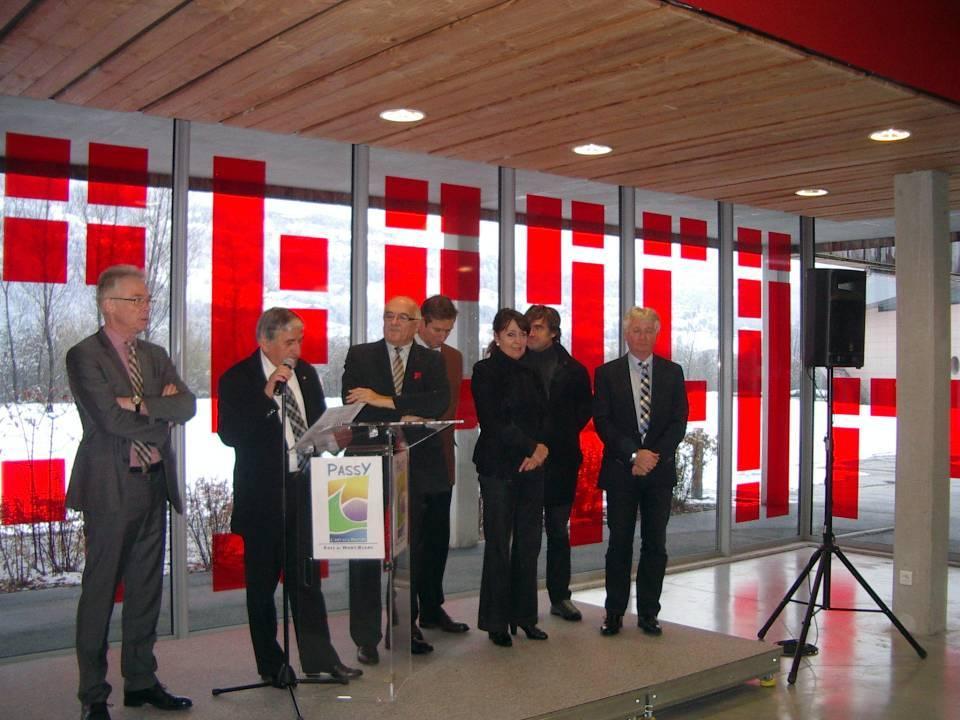 Inauguration du giratoire de l'Aérodrome, à Passy (cliché Bernard Théry)