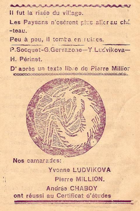 Journal scolaire de Combloux « Contes de neiges », M. Fernand Dunand. Conte « Le seigneur, les paysans et les diables », mai 1932-33,  p. 10