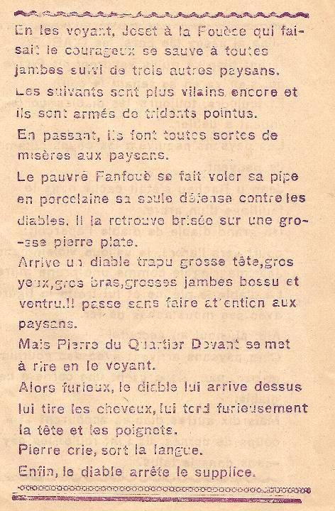 Journal scolaire de Combloux « Contes de neiges », M. Fernand Dunand. Conte « Le seigneur, les paysans et les diables », mai 1932-33,  p. 7