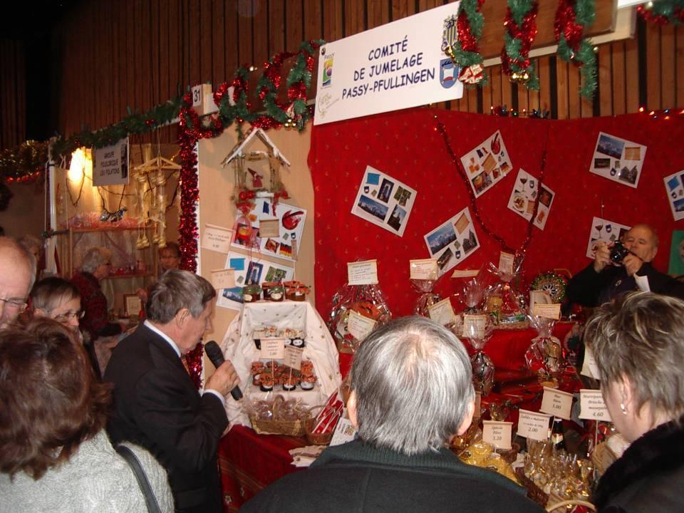 Le Marché de Noël 2013 à Passy inauguré par le Président Pierre Dupraz (cliché bth-CHePP)
