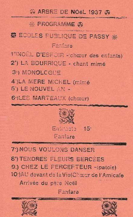 Journal scolaire de Passy, « Face au Mont-Blanc », décembre 1937, p. 4 Arbre de Noël 1937