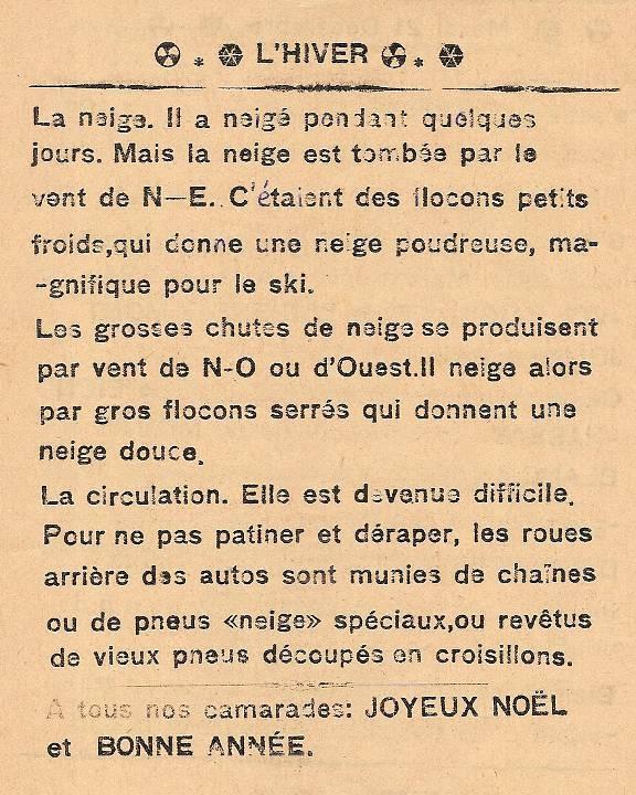 Journal scolaire de Passy, « Face au Mont-Blanc », décembre 1937, p. 8
