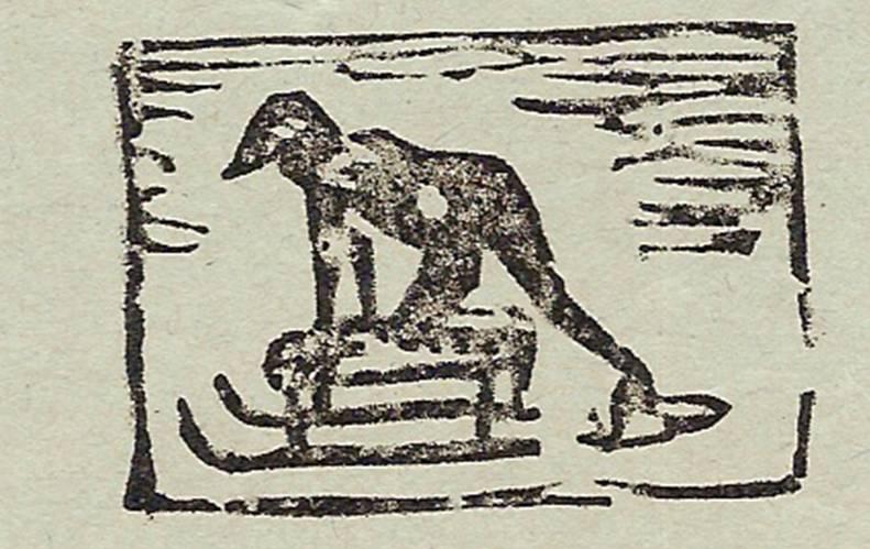 Linogravure du journal scolaire de Passy, « Face au Mont-Blanc », janvier 1938, p. 9
