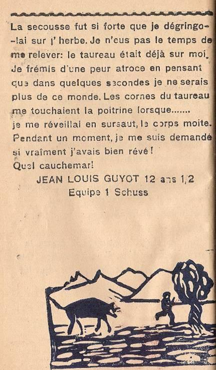 Journal scolaire de Passy « Face au Mont-Blanc », mars 1946, p. 4, En grand danger, par Jean-Louis Guyot, 12 ans ½