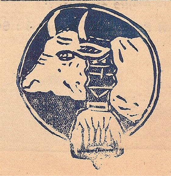 Linogravure du journal scolaire de Passy « Face au Mont-Blanc », mai 1946, p. 4