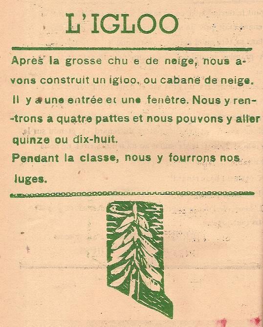 Journal scolaire de Passy, « Face au Mont-Blanc », décembre 1946, p. 10