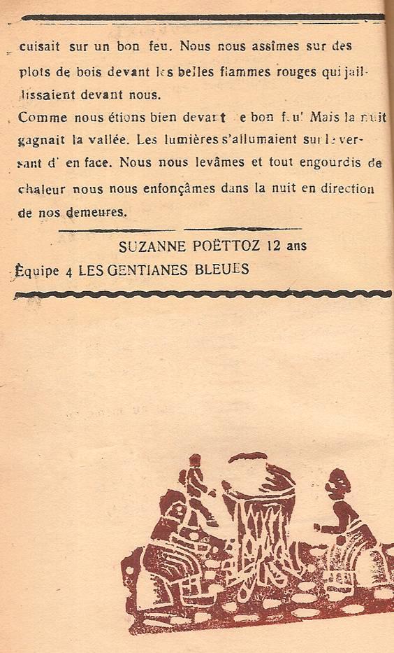 Journal scolaire de Passy, « Face au Mont-Blanc », décembre 1946, p. 12 Scène d'hiver, par Suzanne Poëttoz, 12 ans