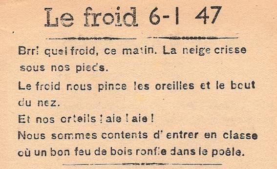 Journal scolaire de Passy, « Face au Mont-Blanc », janvier 1947 p. 1