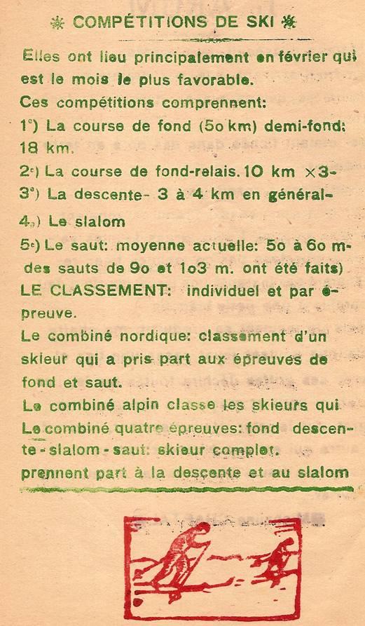 Journal scolaire de Passy, « Face au Mont-Blanc », février-mars 1947, p. 2 Compétitions de ski