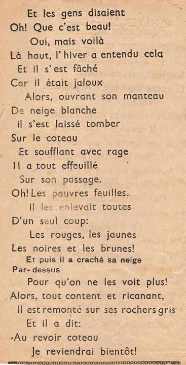 Journal scolaire de Passy, « Face au Mont-Blanc », novembre-décembre 1947  p. 10 L'hiver se fâche