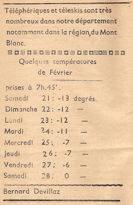 Journal scolaire de Passy, « Face au Mont-Blanc », janvier-février-mars 1948, p. 14