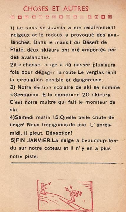 Journal scolaire de Passy, « Face au Mont-Blanc », Décembre 1948 - janvier 1949, p. 7