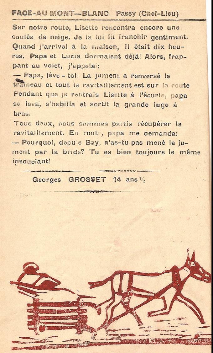 Journal scolaire de Passy, « Face au Mont-Blanc », janvier 1951, p. 4, Promenade nocturne (fin)